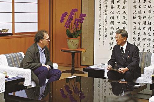 県知事とシマール氏の面談