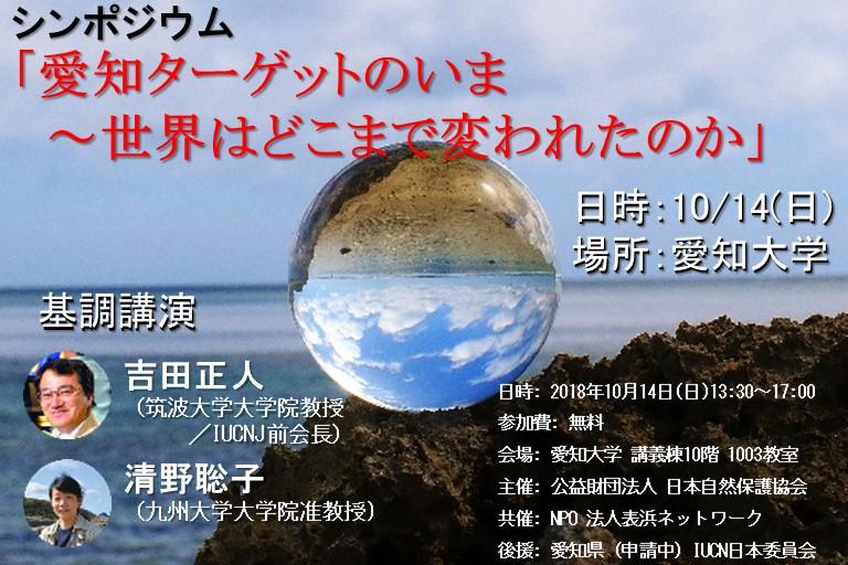 シンポジウム「愛知ターゲットのいま~世界はどこまで変われたのか」トップイメージ