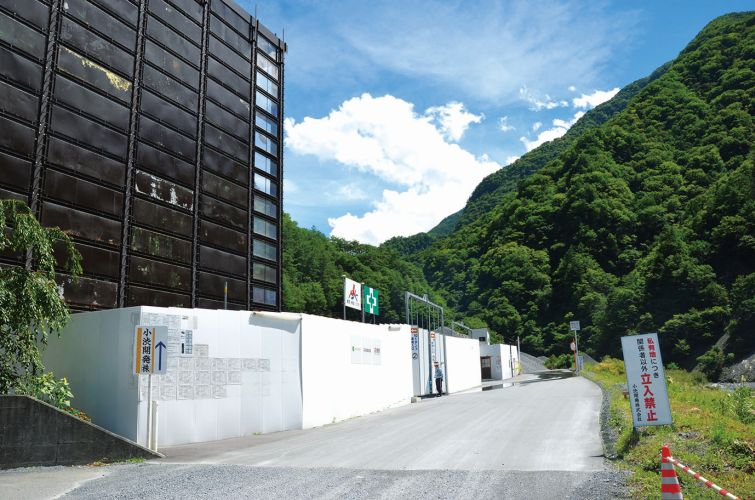 長野県大鹿村のリニア工事現場