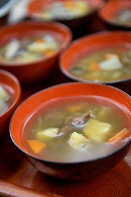 写真:金子さんの昼食
