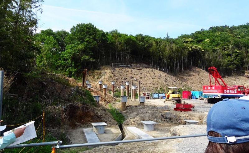 建設工事現場の視察(写真)