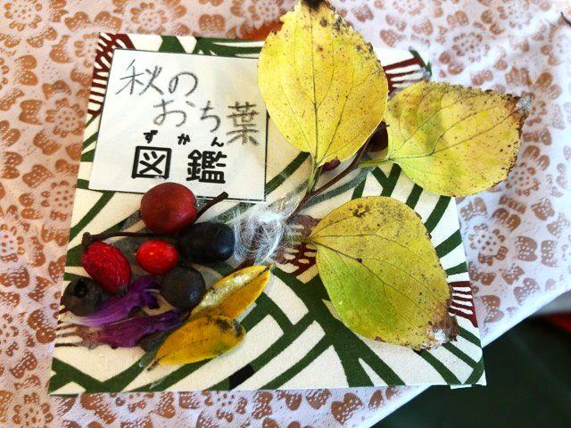 秋のおち葉図鑑とタイトルを入れた表紙の写真