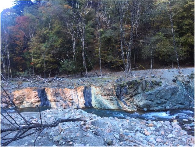 清流の流れる川の写真