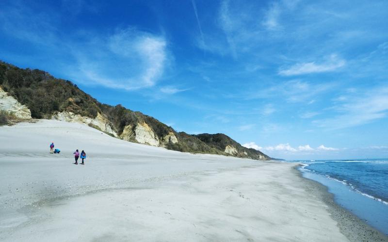 表浜と青空の写真