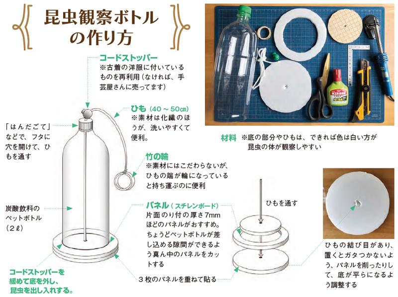 昆虫観察ボトルの作り方