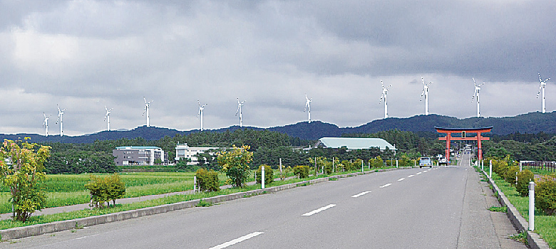 風車建設後の景観イメージ