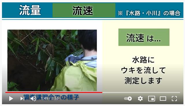 水環境調査動画のサムネイル画像