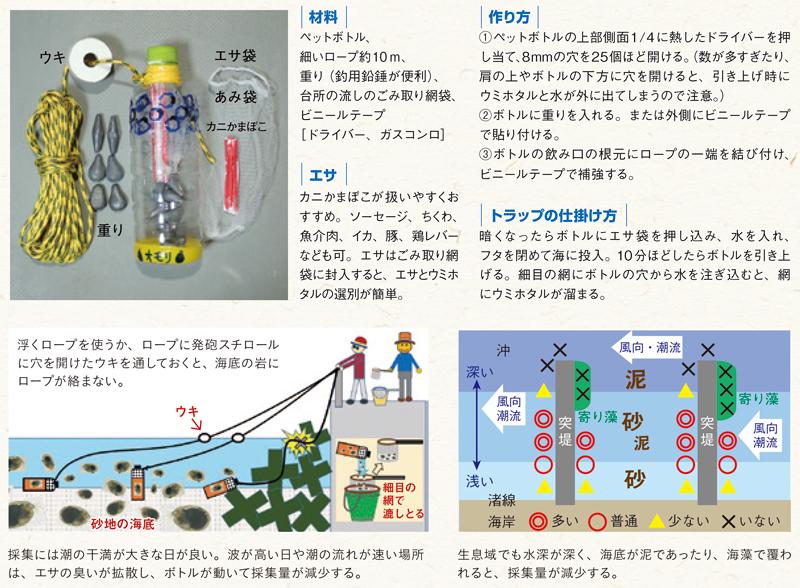ウミホタルトラップの作り方解説の画像