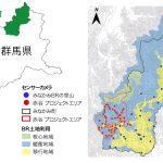 みなかみ町の地図とセンサーの位置を示した画像