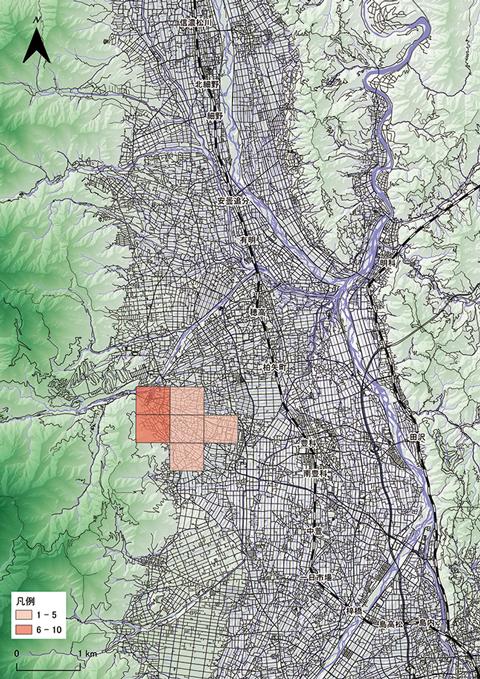 クララの分布図の画像