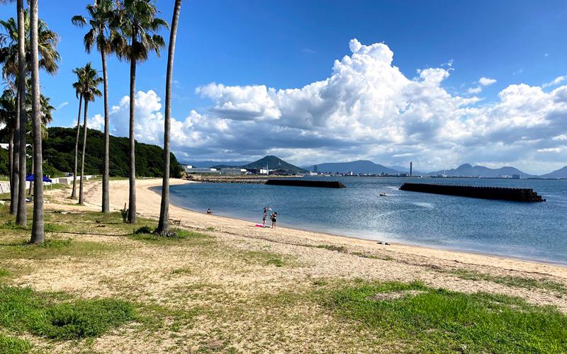 沙弥島海岸の全体写真