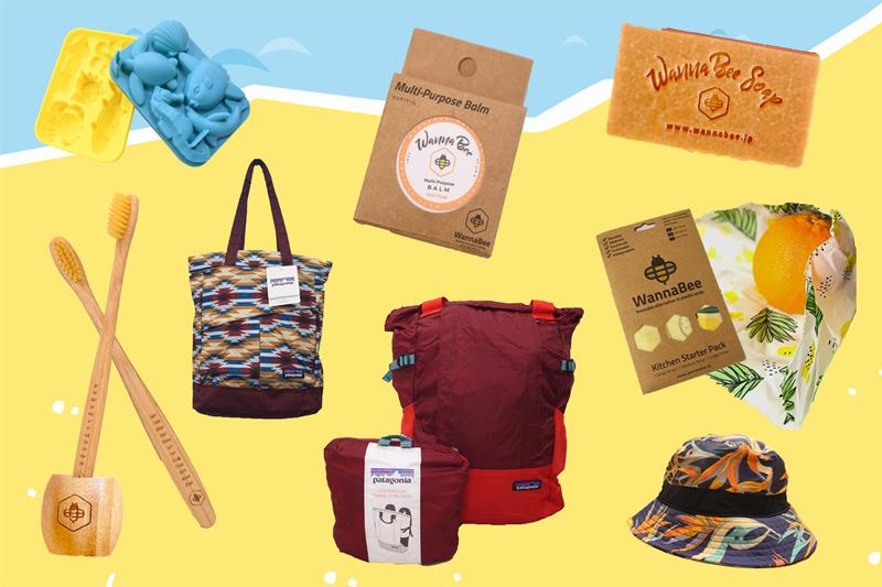 パタゴニアバッグなどプレゼント品物の写真